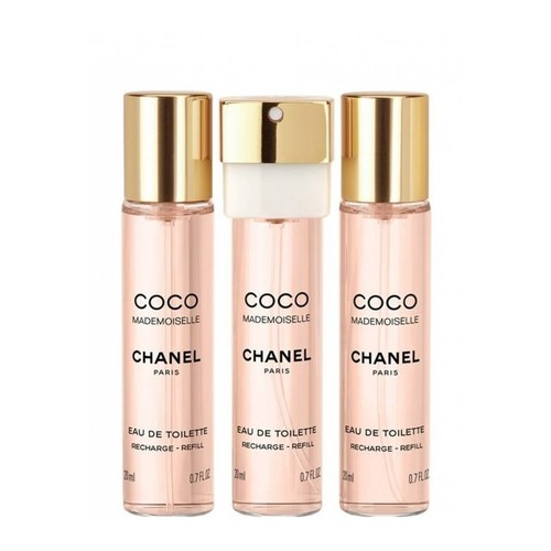 Chanel Coco Mademoiselle Eau de toilette Twist and Spray Recargas 3 x 20 ml de eau de toilette recarga