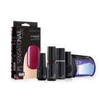 Sensationail Starter Kit Rasberry Wine Led lamp + base- en topcoat + primer + cleanser + gel color