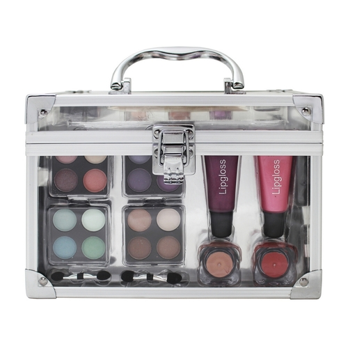 Make-up set doorzichtige koffer