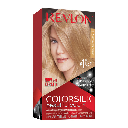 Revlon ColorSilk Beautiful Color 70 Medium Ash Blonde