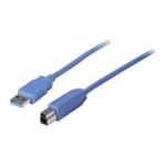 Vedimedia USB 3.0 A/B kabel 3,0 m blauw