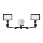 Mantona duo-lichtset videolamp voor GoPro
