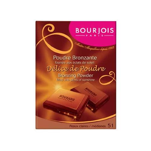 Bourjois Délice de Poudre Bronzing Powder 51 Peaux Claires 6 ml