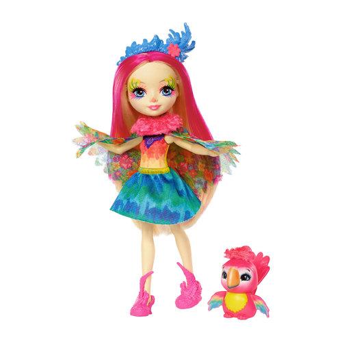 Mattel Enchantimals Peeki papegaai