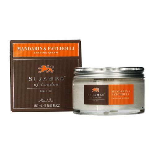 St James Of London Mandarin & Patchouli Shaving Cream Jar