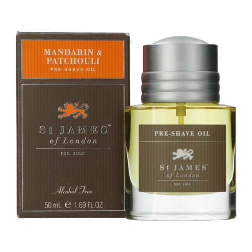 St James of London Mandarin & Patchouli Pre-shave oil