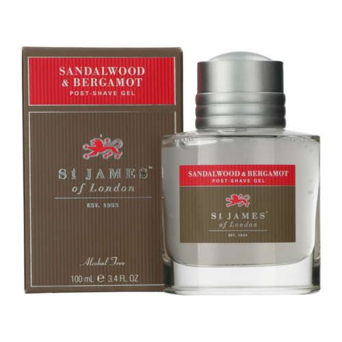 St James of London Sandalwood and Bergamot Post Shave Gel