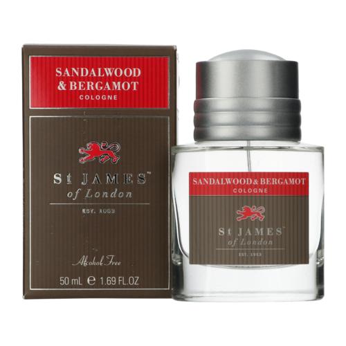 St James of London Sandalwood & Bergamot Eau de cologne 50 ml