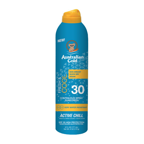 Australian Gold Continuous Active Chill Sunscreen Spray SPF 30