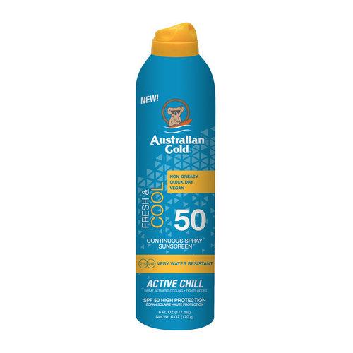 Australian Gold Continuous Active Chill Sunscreen Spray SPF 50